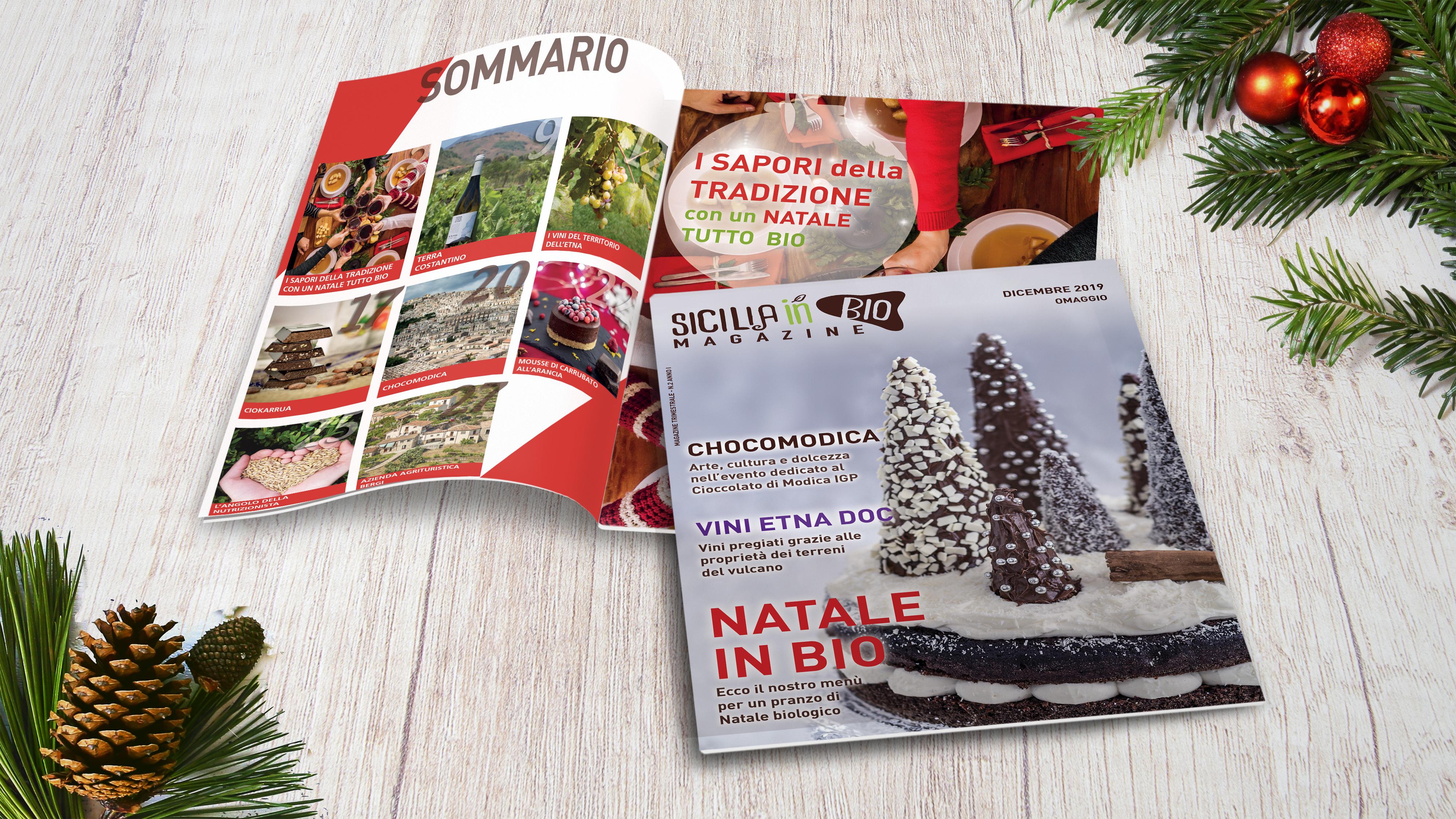 Sicilia in Bio Magazine Natale in bio